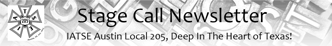 StageCall: IATSE Local 205 Newsletter