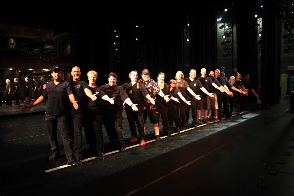 Crew photo from A Chorus Line, September 2013.  Photo from Frank Cortez